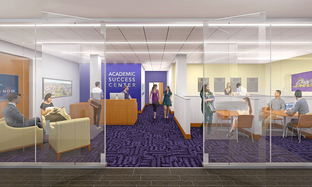 Rendering of Academic Success Center in CoB Learning Complex