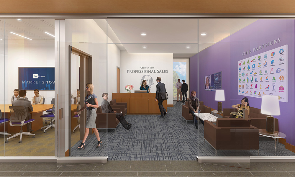Rendering of proposed Center for Professional Sales in CoB Learning Complex