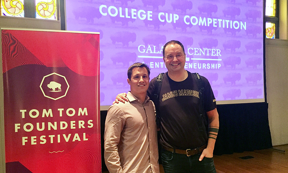 Patrick McQuown and Connor Feroce at the 2017 College Cup Venture Competition