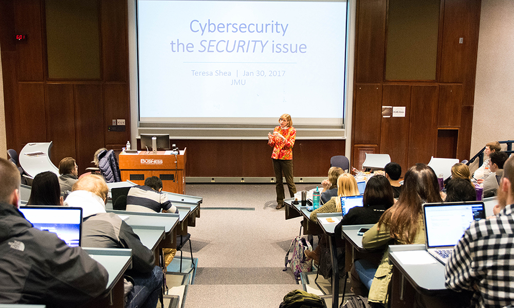 Teresa Shea speaking during Cyber Day - Spring 2017