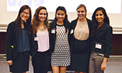 Group of female students at the Student Diversity Council Conference