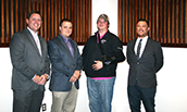 FIN 460 Panelists - 2017 - Jonathan Comer, Thomas Rea, Scott Brown, Matt Findley