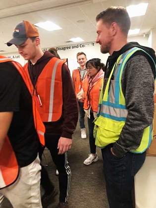 Global Supply Chain Management students during a trip to an Amazon Fulfillment Center - 2019