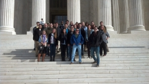 International Business Law Students on Supreme Court steps