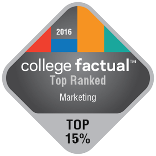 College Factual - Top Ranked - Marketing - 2016