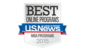 US News and World Report 2015 Best Online MBA Programs Logo