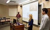 Students presenting during the 2017 SHRM Case Competition