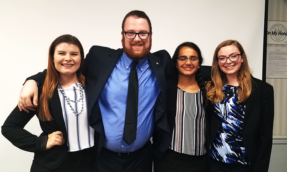 On Nov. 8, the JMU Society for Human Resources Management (SHRM) student team snagged top prize in the inaugural VASHRM Student Competition.