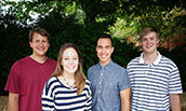 Four JMU Students who were Collegiate ECHO Challenge Winners