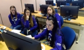 GOMAC students in a computer lab