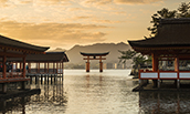 Itsukushima Shrine - a famous place at Miyajima Hiroshima, Japan
