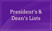 President's and Dean's List