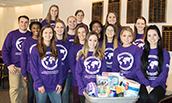 Marketing students collected donations for the 2018 MLK Day of Service