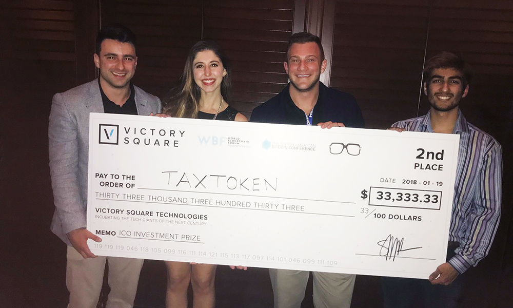 Student start-up Tax Token takes 2nd in Major Bitcoin Competition - 2018