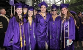Group of Cob graduates at spring 2018 commencement