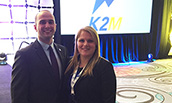 Joseph Straub and Ashley Yelverton at the K2M Global Sales Meeting - 2015