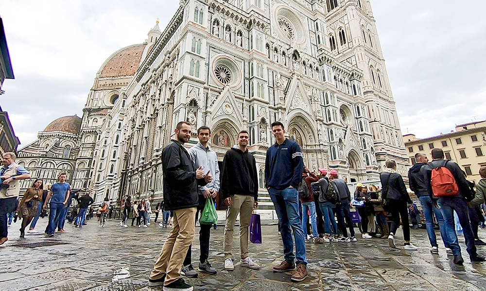 CIS students in Florence Italy.