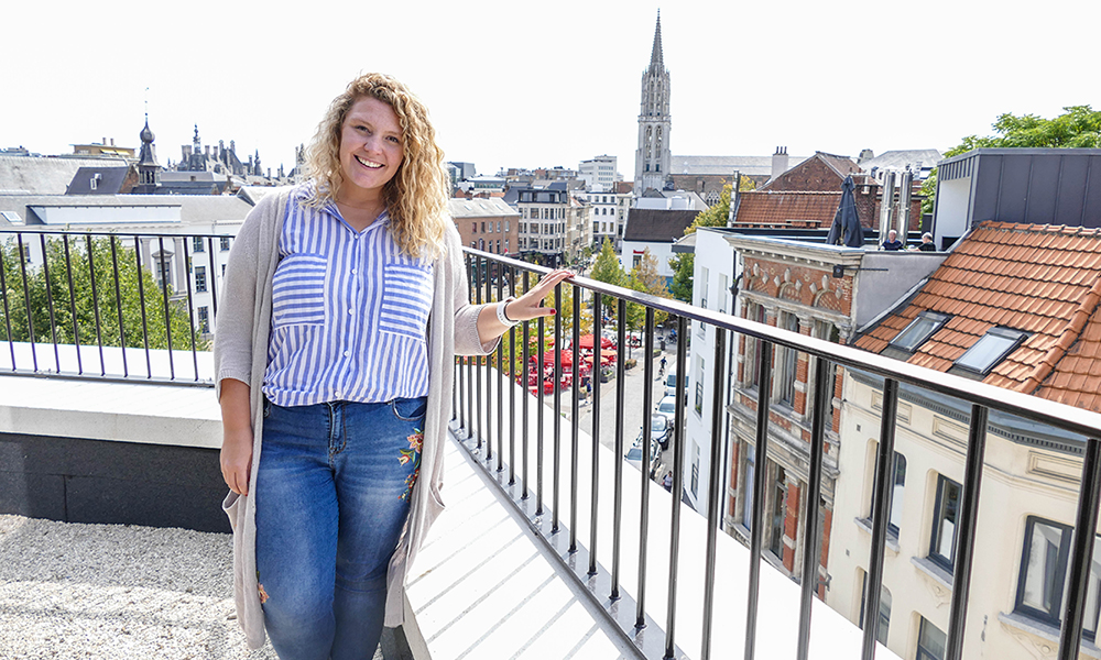 Student Meredith Wood during her study Abroad in Antwerp