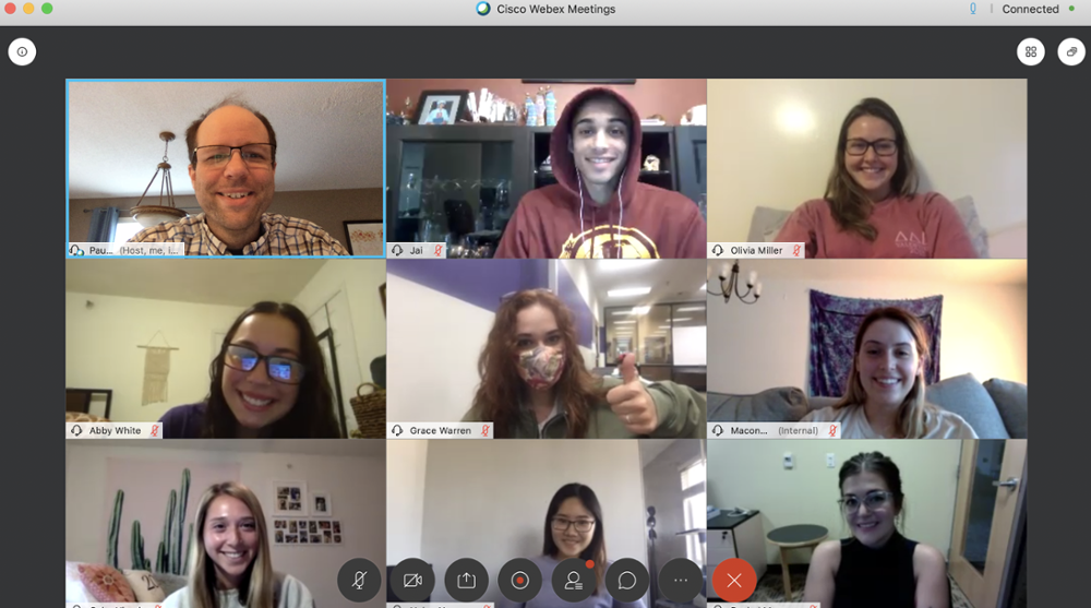 Fall 2020 Staff Webex Photo