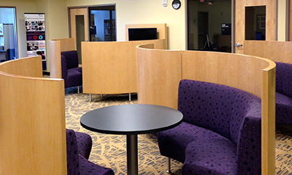 The Communications Center, 1st floor in the Student Success Center