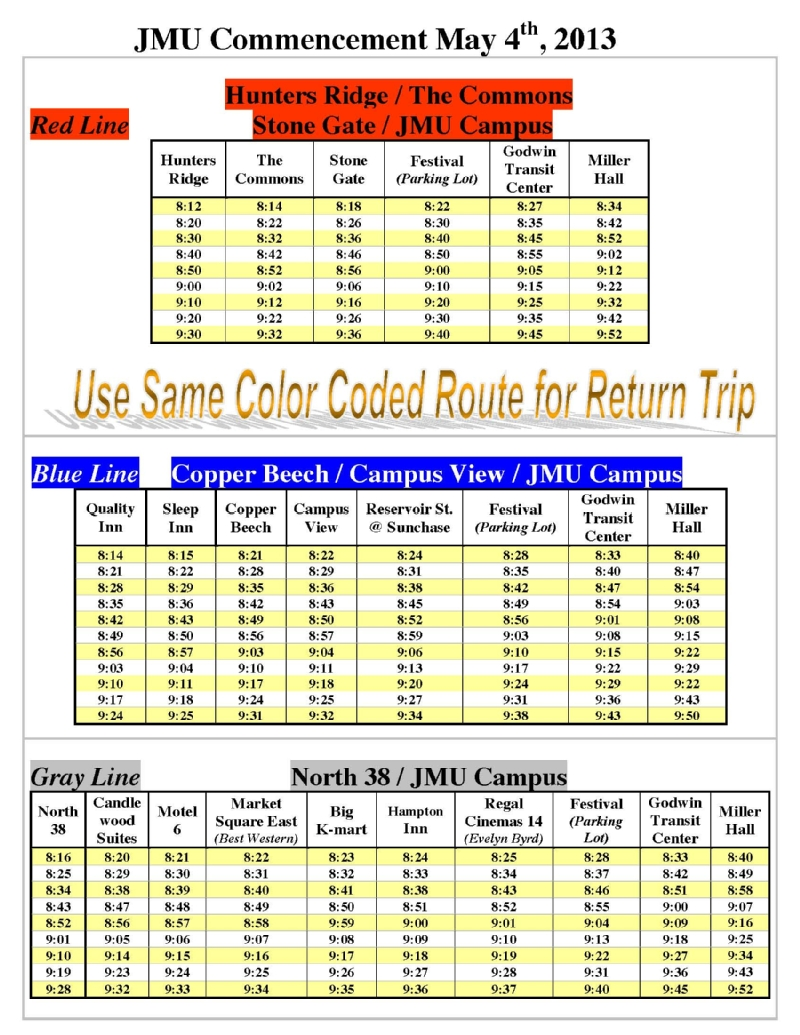2013 Graduation Shuttles Page 2