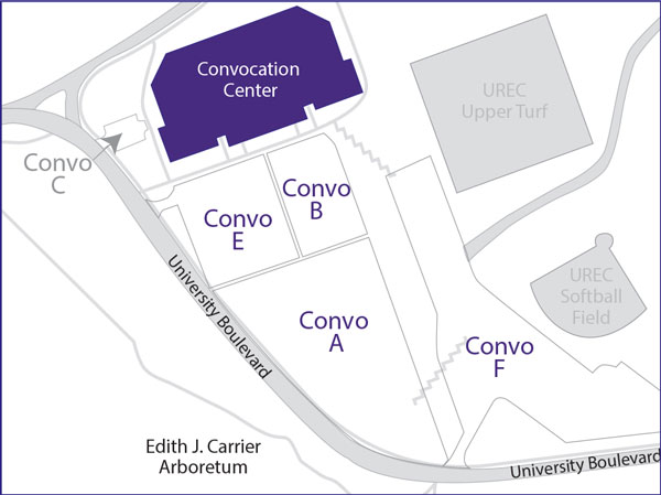 Convocation Center Map