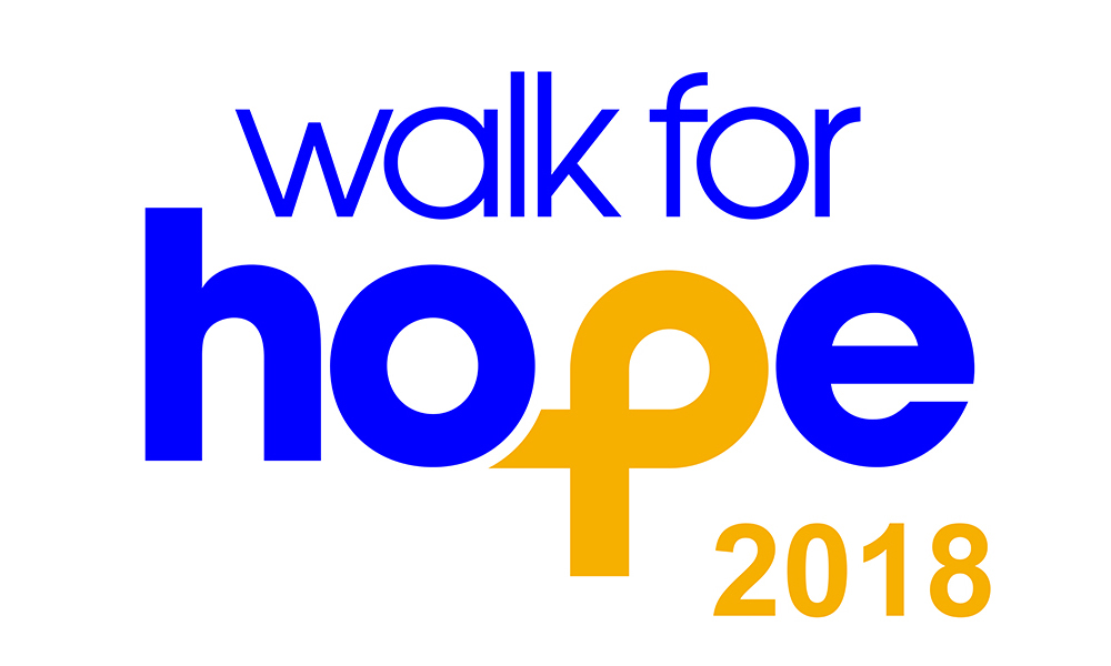 Walk For Hope save the date postcard