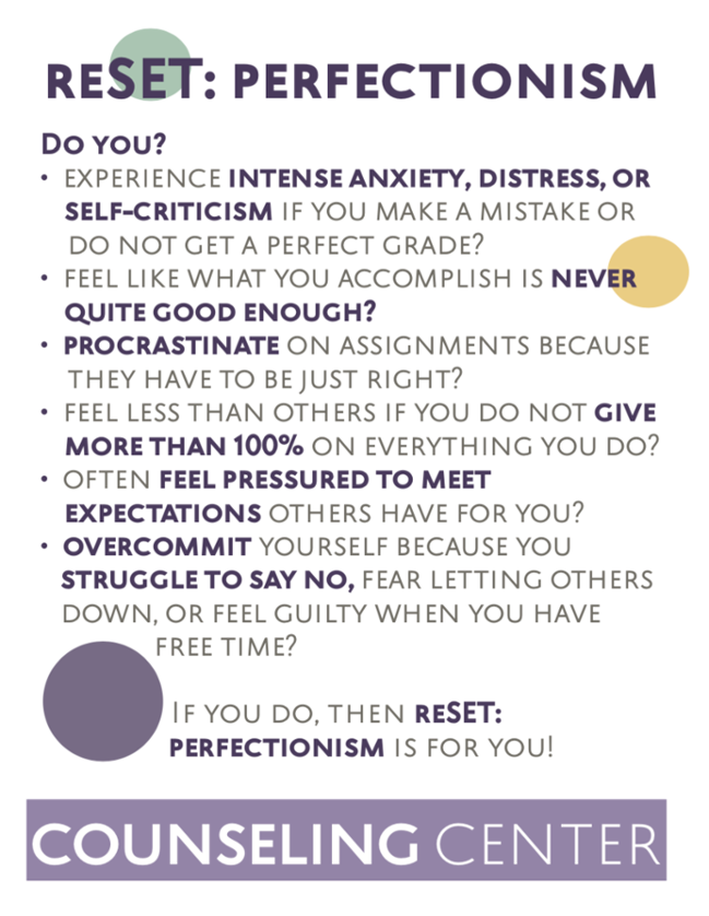 ReSET Perfectionism Treatment Program handout