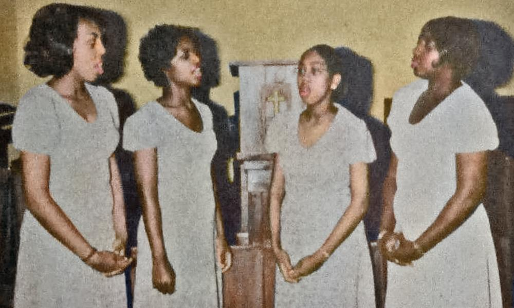 The Darcus Sisters singing group on an album cover