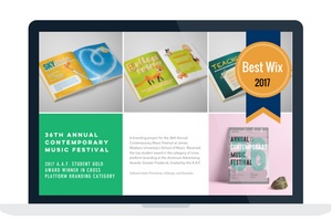 Image of Breanna Young's portfolio, winner of best wix, 2017.
