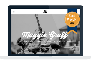 Image of Maggie Graph's portfolio, winner of best Weebly 2017
