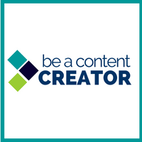 Image with the DigiComm slogan: be a content creator