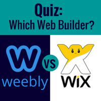 Image promoting wix v. weebly quiz