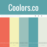 image of homepage of color resource Coolors.co