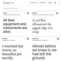 Link to Google Fonts