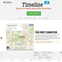 image of an example of Timeline JS's about the first computer