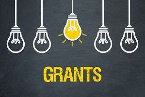 "light bulbs with the word ""grants"""