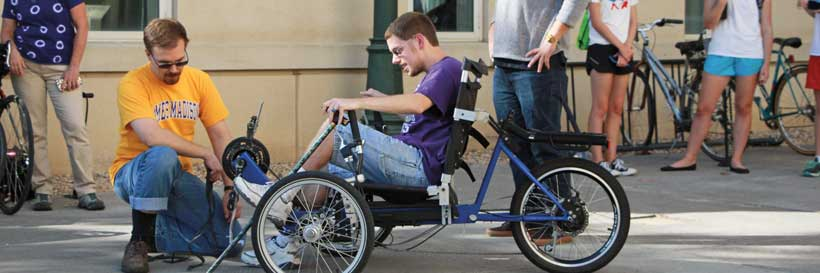 Engineering's annual sophomore year bike project to design bicycles for local mobility-challenged clients.