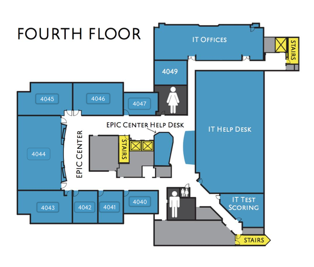 Map of SSC fourth floor