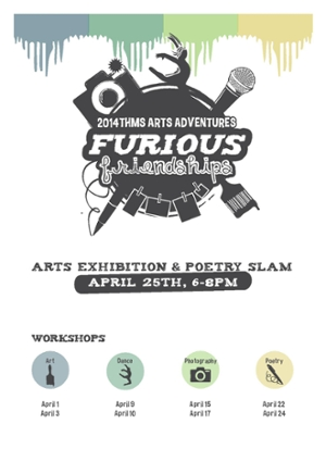 Poetry slam and art exhibition on THMS on 4/25/14