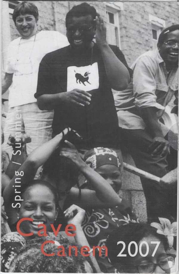 Cave Canem promotional material featuring Cornelius Eady and Toi Derricote.