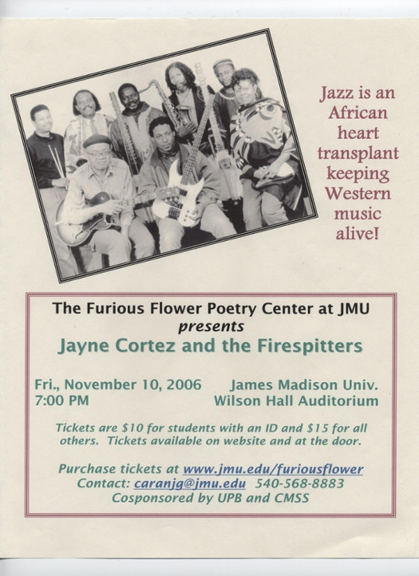 Jayne Cortez and the Firespitters at JMU in 2006