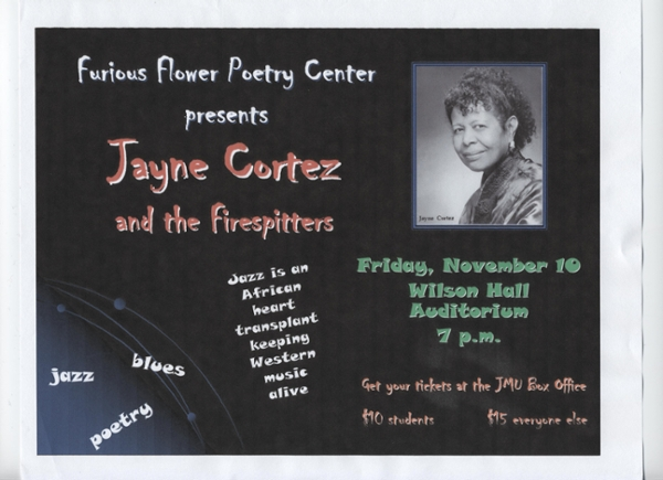 Jayne Cortez and the Firespitters advertisement poster
