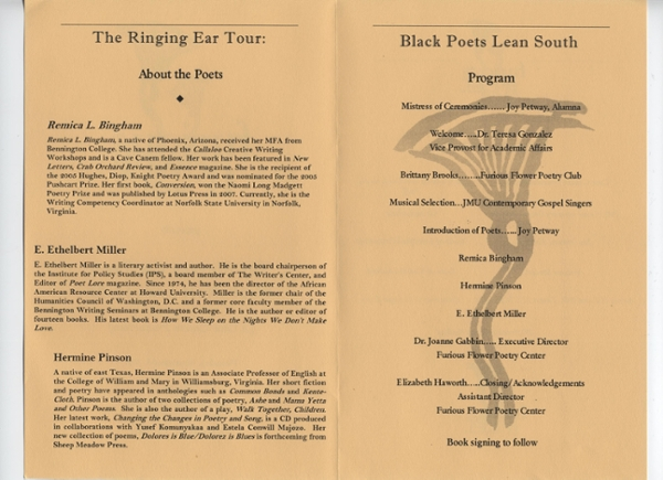 Ringing Ear Poetry Reading Program