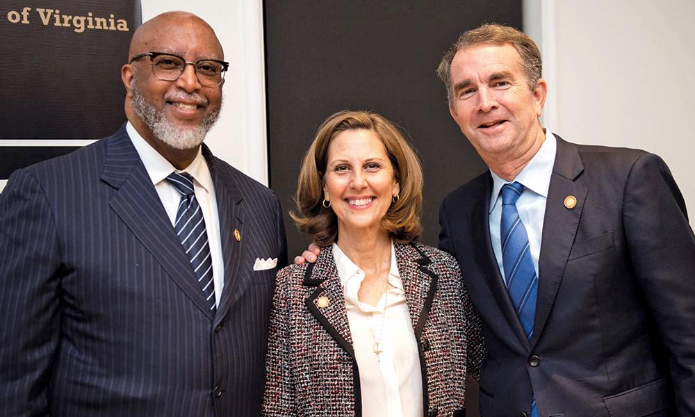 Gilbert Bland with Gov. and Mrs. Ralph Northam.