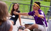 An Orientation FROG introduces freshmen to their Madison Experience