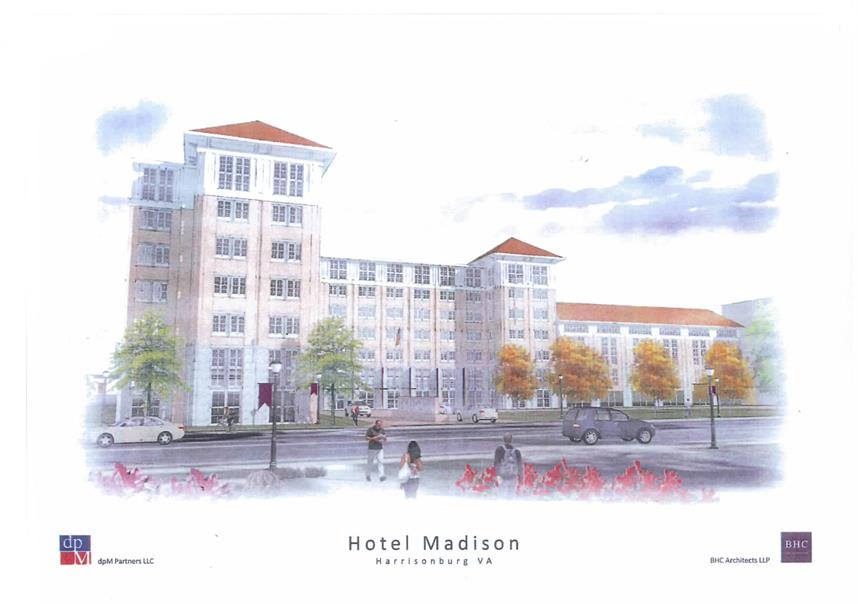 Rendering of Proposed JMU Hotel and Conference Center