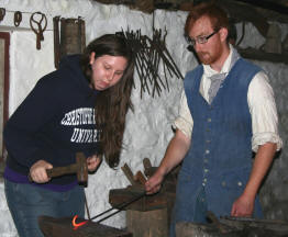 Evelyn Riley blacksmithing