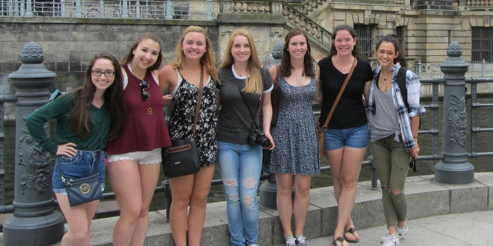 History Study Abroad in Europe group photo