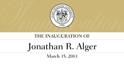 The Inauguration of Jonathan R. Alger - March 15, 2013